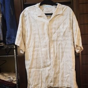 Tommy Bahama short sleeved button down.
